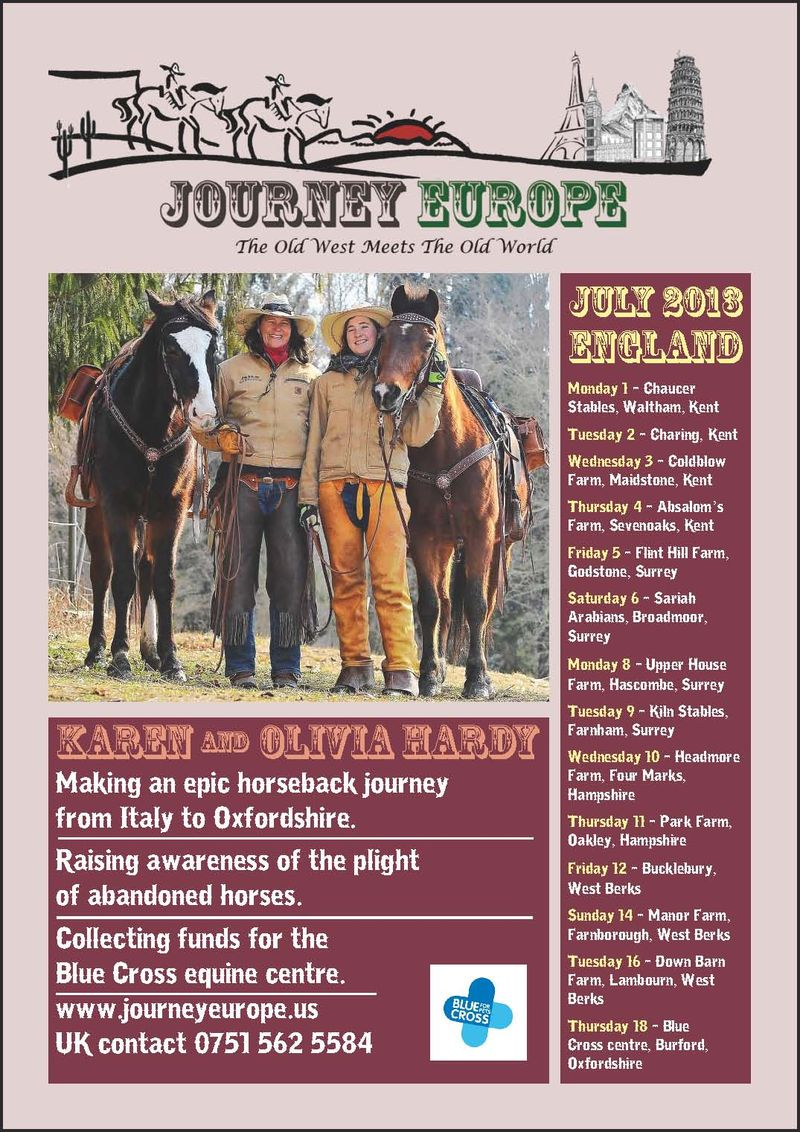 Journey Europe England flyer